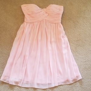 Light pink sweetheart neckline cocktail dress